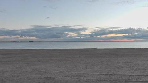 Evening Beach Sunset stock footage