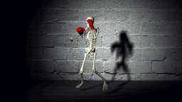 Skeleton Boxing Training Animation Animation
