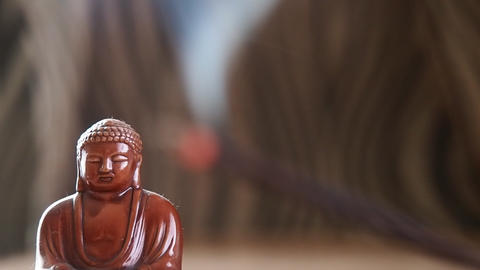 Buddha incense and relaxing video Live Action