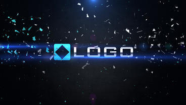 Dynamic Logo Impact Shatter Particles Explosion Lights Intro After Effects Template