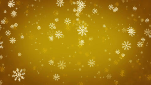 Beautiful Snowflakes - winter background. Seamless loop Animation