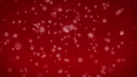 Beautiful Snowflakes - winter background Stock Video Footage