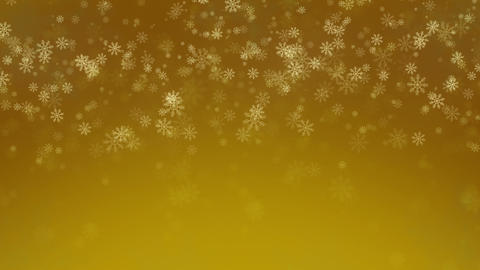 Beautiful Snowflakes - winter background. Seamless loop Stock Video Footage