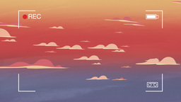 Cartoon animation of a sunset Footage