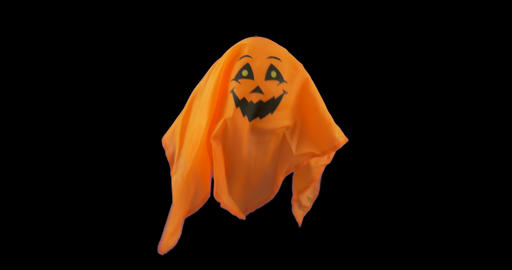 Ghost Punpkin Alpha 01 stock footage
