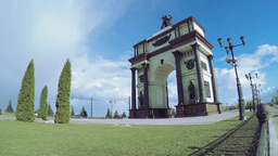 Arc De Triomphe Timelapse Kursk stock footage