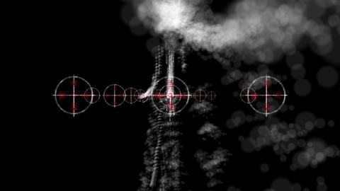 Targets And Smoke stock footage