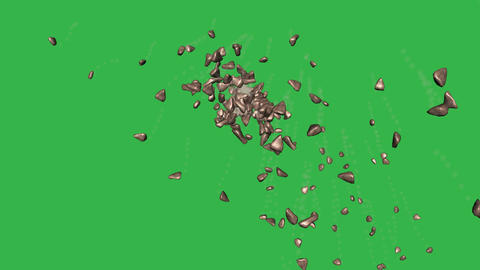 Rock Explosion, Version #2: + Matte Image