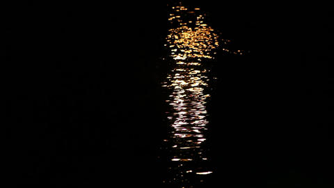 Moon on the water Footage