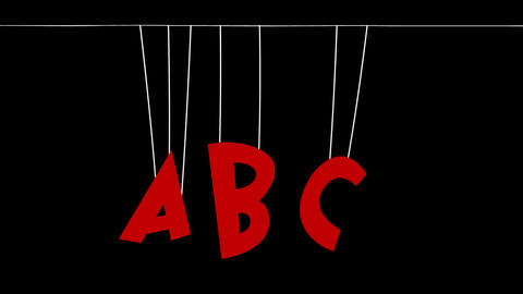 ABC hanging with ropes Animation