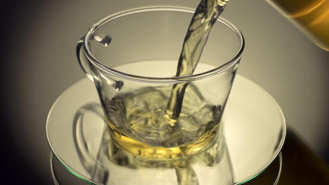 Pouring green tea Footage