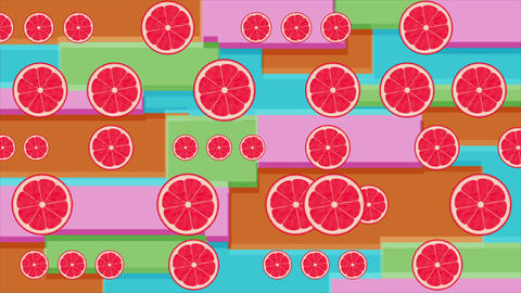 Citrus Animated Background stock footage