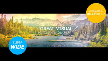 Super Wide Slideshow 4K & Full HD After Effects Project