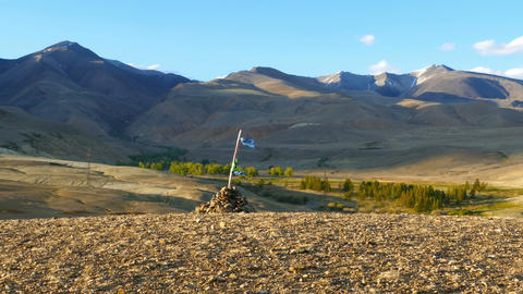 nomadic yurt camp in Altay mountains Footage