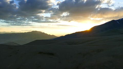 beautiful sunset in Altai mountains, timelapse Footage