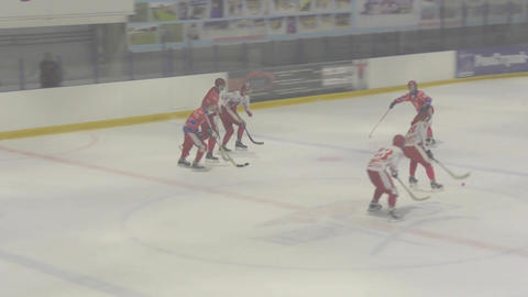 Game in Mini hockey with the ball Footage