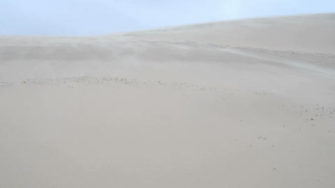 Sand blowing over a sand dune Footage