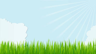 Cartoon clouds floating with sun rays rotating After Effects Template