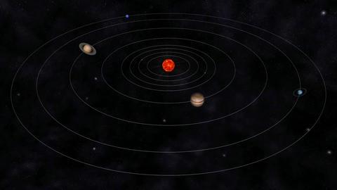 Solar System Animation stock footage