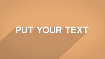 Long Shadows Text Animation After Effects Template