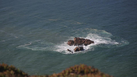 Close Up Of Rocks At At Cabo Da Roca Portugal stock footage