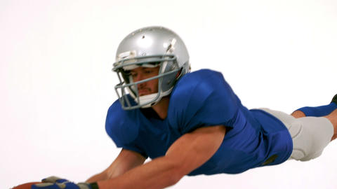 American football player scoring a try Live Action
