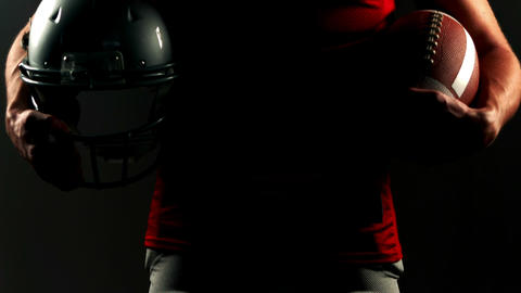 Portrait of american football player Footage