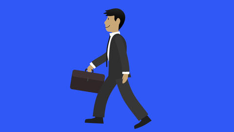 Businessman Walk Cycle 3 stock footage