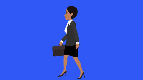Businesswoman Walk Cycle 2 stock footage