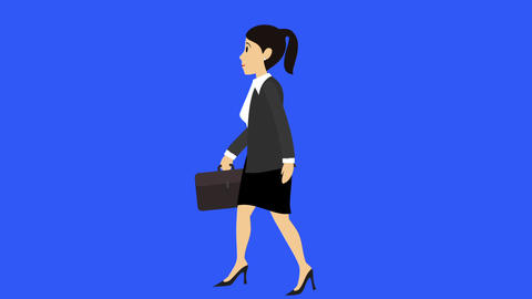 Businesswoman Walk Cycle 3 stock footage