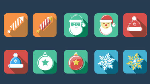 Xmas And New Year Flat Icons 1