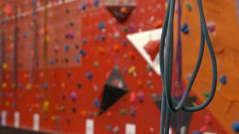 Rock climbing wall Footage