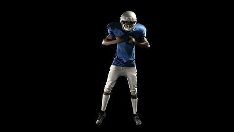 American football player motivating himself Footage