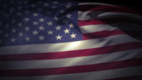 American flag floating in the air Footage