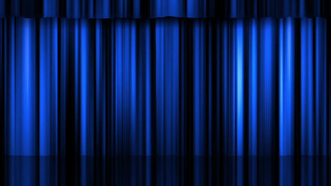 Theatre Curtains 2 Stock Video Footage