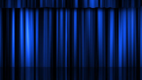 Theatre Curtains 2 stock footage