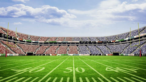 View of an american football stadium Footage