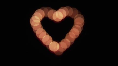 Glowing heart defocus Footage