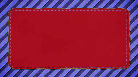Blue Stripes Red Rectangle Shape Background Animation