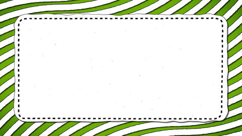 Green Stripes White Rectangle Shape Background Animation