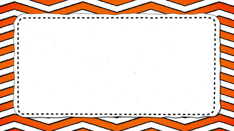 Orange Stripes Zig Zag White Rectangle Shape Background For Text Animation