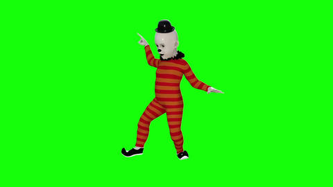 Clown Dancing Hromakey Animation stock footage