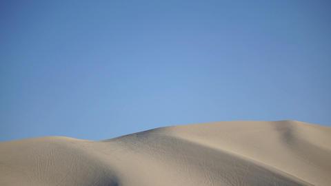 Sand Dune In The Desert stock footage