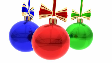 Christmas balls Animation