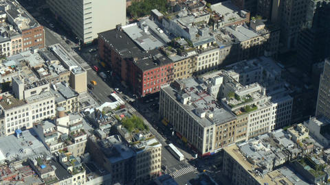 Manhattan street traffic high angle view Live Action
