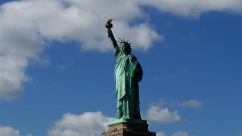 Passing Liberty Statue New York Footage