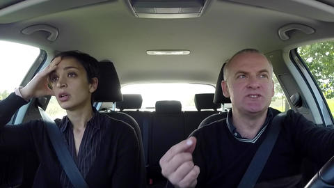 Woman With Nausea In Car Motion Sickness Sick People Travel Footage