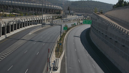 The almost empty Begin Road in Jerusalem on Yom Kippur Footage