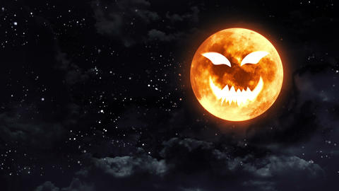 pumpkin face moon Animation