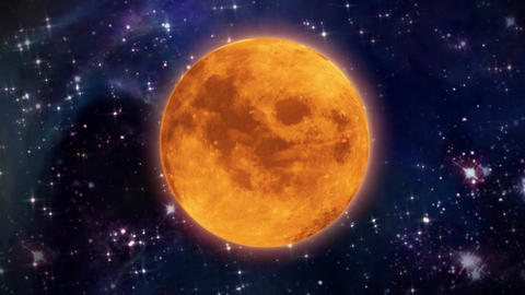 pumpkin moon in the space Animation